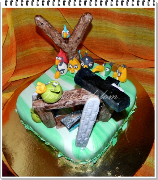 Angry birds torta 2.
